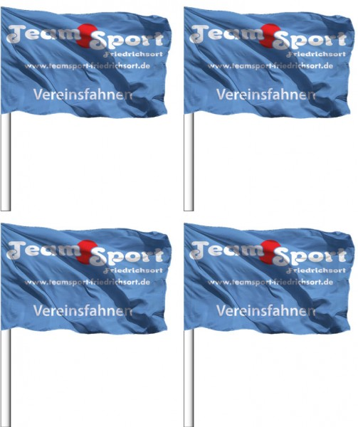 Eckfahnen mit Logo 45 x 35 cm
