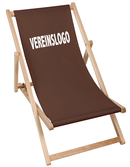 Holz-Liegestuhl / Strandstuhl inkl. Logodruck
