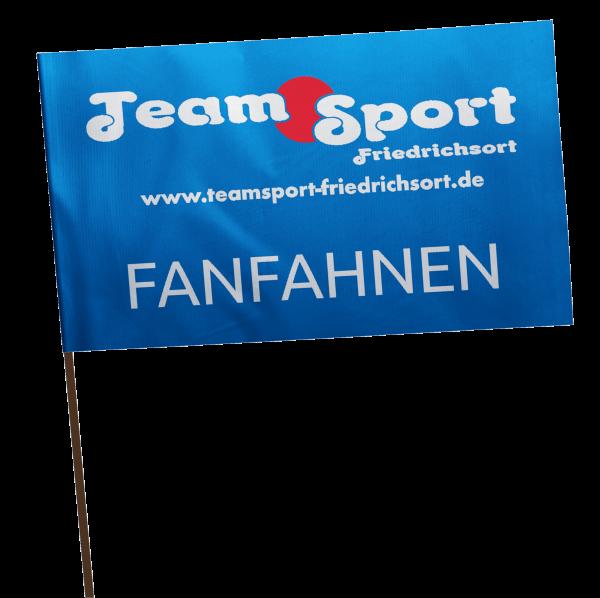 Fanfahnen / Schwenkfahnen inkl. Wunschmotiv