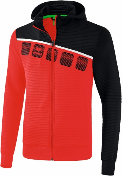 5-C Trainingsjacke mit Kapuze