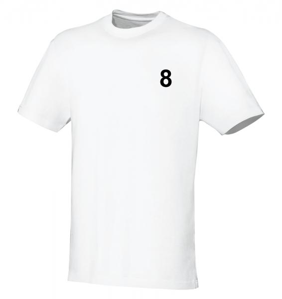 kleine Nummer (auf Textilien oder Taschen)